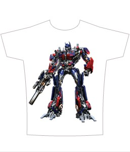 Transformers Movie Optimus T-Shirt Sheer
