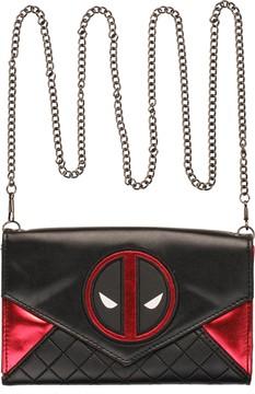 Marvel Comics Deadpool Logo Envelope Chain Clutch Wallet
