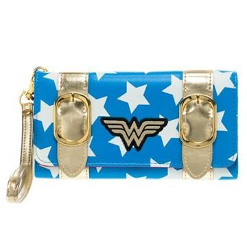 DC Comics Wonder Woman Satchel Tri-Fold Wristlet Clutch Wallet
