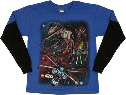 youth-t-shirt-star-wars-lego-ship-confront-long-sleeve by YTH STAR WARS LEGO SHIP CONFRONT LS-4-XL